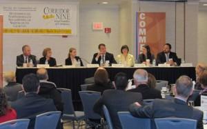 Legislators discuss issues at Corridor Nine breakfast. Photo/Corridor Nine Area Chamber of Commerce