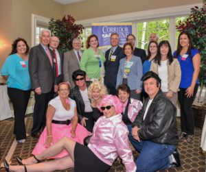 "The annual meeting sponsors pose for a photo with the ""cast"" of Grease (aka, the chamber's officials and some of the Board of Directors). Photo/Andy Weigl, Weigl Photography"