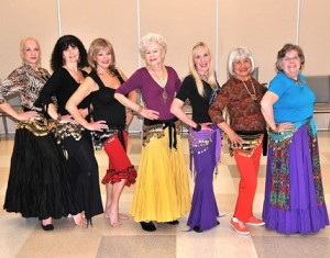 The Silver Moon Gypsies are (l to r) Elaine Savoy of Millbury, Judy Daubney of Upton, Gypsy Phillips of Northborough, Norma Giumentaro of Shrewsbury, Anna Connors of Shrewsbury, Annie Wales of Westborough, and Carol Fiedler of Milford. Not pictured is Alida Krumin of Southborough.