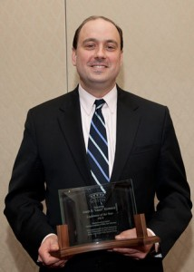 State Sen. Jamie Eldridge with his Legislator of the Year award. (Photo/submitted)