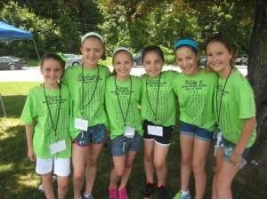 (l to r)  Abby Vincequere, Madeline Duke, Grace Creamer, Kelly MacCausland, Abbie Kamin, and Emily Beers during the Fourth Grade Celebration at Spring Street School June 16.