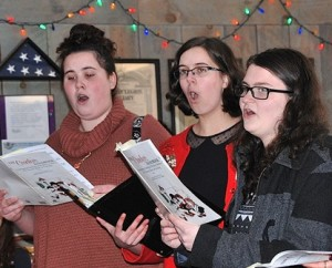 Members of the Camerata Singers perform.