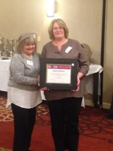 Laurie Bender, owner and Jo Rector, MetroWest CAREGiver of the Year