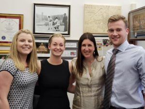 (l to r) Jessica Beliveau, Kiley Fitzgerald, Representative Hannah Kane and Martin Davis Photos/submitted