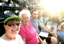 RTN Good Deed Seats winners enjoy a Bravehearts game. Photo/submitted