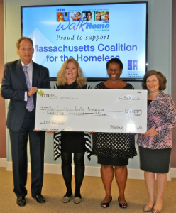 (l to r) RTN Treasurer and Chief Executive Officer Richard E. Wright; Massachusetts Coalition for the Homeless Executive Director Robyn Frost; RTN Senior Vice President of Retail Services Nicole James; and RTN Assistant Vice President for Business Development Sarita Ledani. (Photo/submitted)