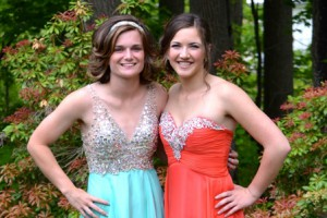 Algonquin Regional High School seniors Maddie Collins (left) and Sophia Jessiman will participate in the Boston Marathon Jimmy Fund Walk. Photo/submitted