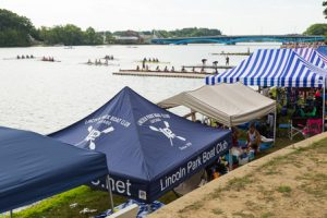 Rowing clubs from across the country set up their tents along the shores of Lake Quinsigamond.