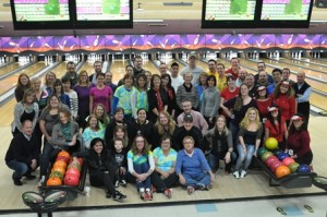 Assabet Valley staff members enjoy a fundraising event at the AMF Lanes in Shrewsbury. (Photo/submitted)