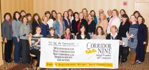 Recipients of the Corridor Nine Chamber of Commerce's 2013 mini-grants/ (Photo/Ron Bouley Photography)