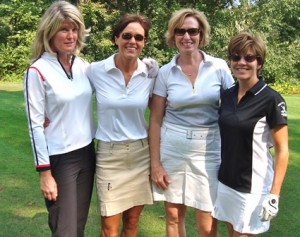 Golfers Kelley Carney, Sally Fodor, Trisha Steacie and Beth Terricciano will be participating in the Falconi Family Memorial Golf Tournament Sept. 16.  (Photo/submitted)