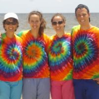 (l to r) - Karen Fournier, her daughters Danielle and Aly Fournier, and her nephew Daniel Russo Photo/submitted
