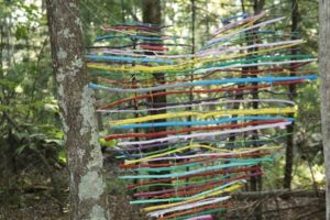 """The Southborough Cultural Arts Council provided grant funding to the """"Art on the Trails"""" program. Neary students have participated in this program. """"Hope Sticks"""" is one of the creations by Neary students led by art teacher Denise Johnson"""