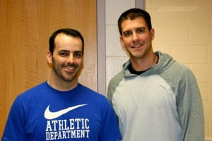 Tom McCabe (left) and Steve Felo (right) will participate in the Tough Mudder in support of former student Maddie Collins. (photo/ Sue Wambolt)