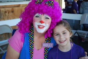 Emily Harmon and Violet the Clown