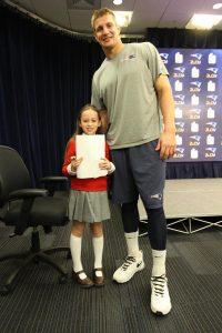 Shayna with New England Patriots star Rob Gronkowski. (Photos/courtesy Rose family)