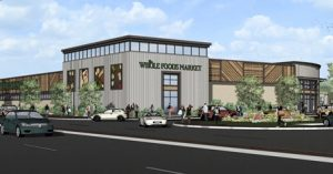 An artist's rendering of the Whole Foods anchor building.