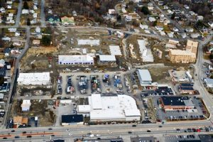 An aerial shot of Lakeway Commons