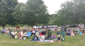 Local families enjoy unplugged outdoor time together during a summer concert series event sponsored by Southborough Youth and Family Services and the Southborough Recreation Department. Photo/submitted
