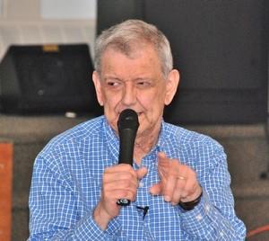 Paul Doucette of the Southborough Historical Society (Photo/Ed Karvoski Jr.)