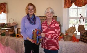 Nancy Opp of Eclectica Designs (l)  and Mary Fischer of Just Baskets, participate in the fair. (Photo/Jane Keller Gordon)