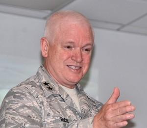 Maj. Gen. L. Scott Rice commends the volunteers