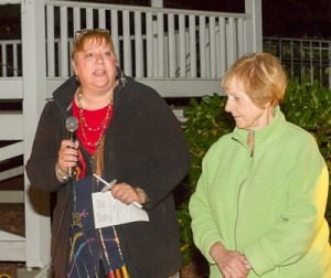 Rev. Lynne Dolan, First Congregational Church of Shrewsbury and Bette Oliver of ADVISE