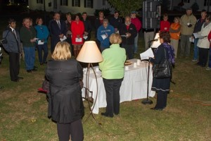 Participants at the vigil