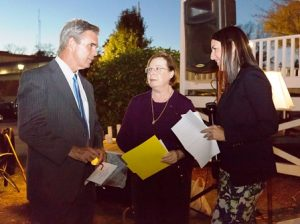 (l to r) Worcester District Attorney Joseph Early, Jr, Janet Trippi from ADVISE and State Rep. Hannah Kane