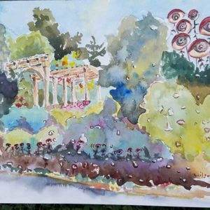 """""""The Secret Garden Has Eyes,"""" a watercolor by Robert Wilson. Photo/submitted"""