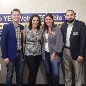(l to r) Committee co-chairs Jason Palitsch and Beth Casavant, State Rep. Hannah Kane and Campaign Manager Jason Molina. Photo/Melanie Petrucci