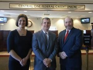 (l to r) Christine Bates, David V. Kaiser and Michael T. Murphy