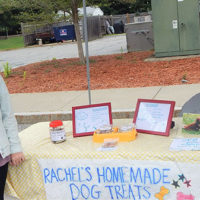 Rachel Coskie and her homemade dog treats Photo/Melanie Petrucci