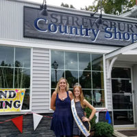 Shrewsbury Country Shoppe owner Debbie Cottam with Miss PreTeen Shrewsbury Caroline Photo/submitted