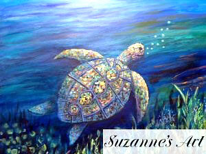 Colorful Turtle by Suzanne Foxwell, Photo/submitted