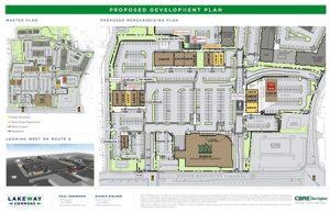 An artist's rendering of the development plan