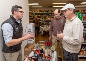 (left to right) Joe Clayton from Atlas Distributing, Kevin Hickey and Tim Hickey Photo/Jerry Callaghan, Callaghan Photography
