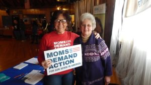 Moms Demand Action, Lisa Talbot (left) and Nancy Woron