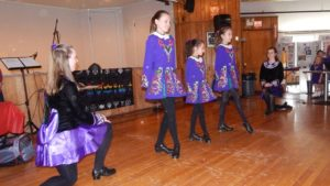 Irish step dancers from McInery School of Irish Step Dance