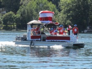 "A boat celebrates ""The Cat in the Hat"" in last year's parade. (File photo/Bonnie Adams)"