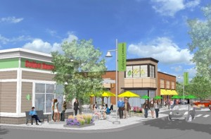 "An artist's initial rendition of ""Lakeway Commons""  Photo/courtesy Grossman Development Group, LLC"