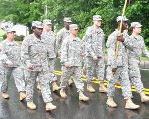 Representatives of the 405th Combat Support Hospital in Worcester visit Shrewsbury. Photo/Ed Karvoski Jr.