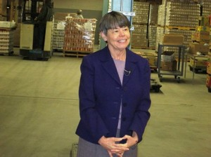 """It's like Christmas in March,"" food bank executive director Jean McMurray said of the massive donation."