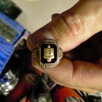 A Shrewsbury High School Ring from 1950. Photo/courtesy Mike Brauer