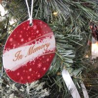 Photo 1: Christmas ornaments were placed on a tree at Chiampa Funeral Home to remember those who passed away in 2018.