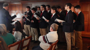 Photo 2: Members of the St. John's High School Choir Photos/Melanie Petrucci
