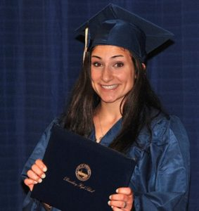 Katrina DiGiacomo is happy to get her diploma.