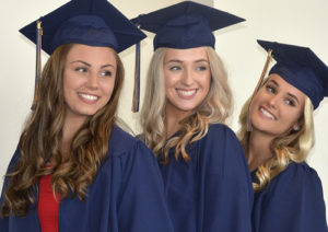(l to r) Millaina Fashjian, Paige Bonetti and Alexa Beer are happy to graduate together.
