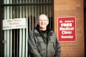 Dr. Harvey G. Clermont poses for a photo in front of St. Anne's Medical Clinic in Shrewsbury.  Photo/ Courtesy Joyce Maranto of Maranto Studios