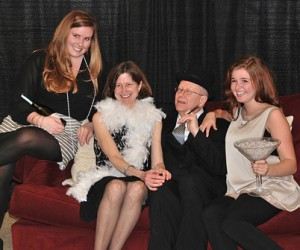 Striking a pose is the Hopkins family: (l to r) Sarah, Ruth, Tom and Hannah.